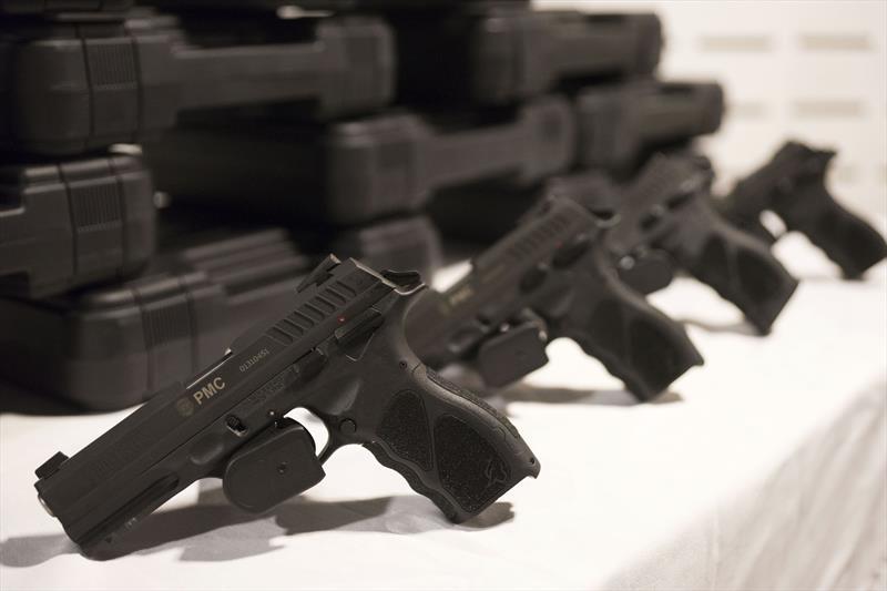 Guardas municipais receberão mais de mil pistolas calibre 9mm