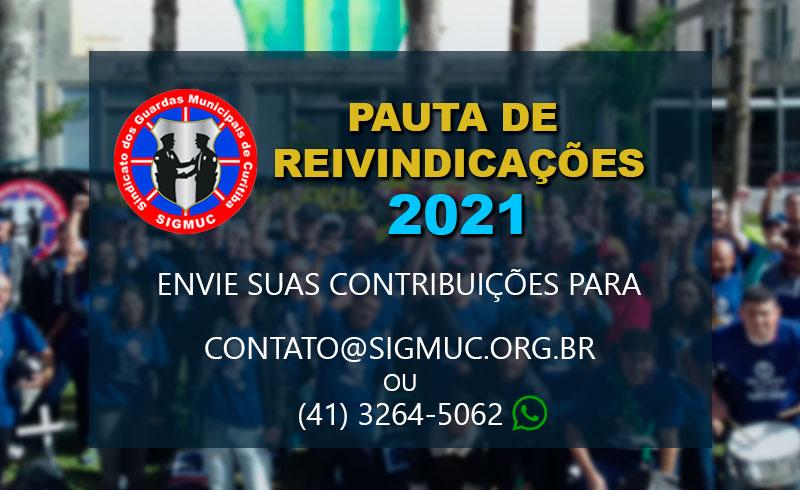 PAUTA DE REIVINDICAÇÕES 2021