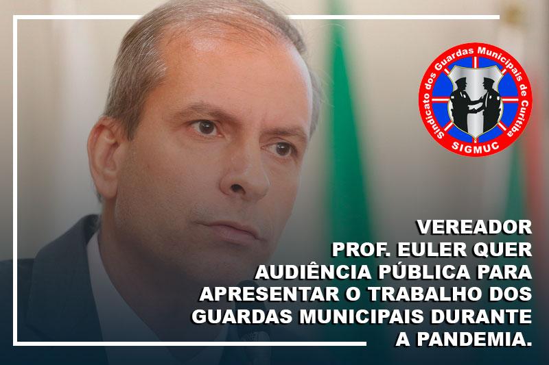 VEREADOR PROF. EULER QUER AUDIÊNCIA PÚBLICA PARA APRESENTAR O TRABALHO DOS GUARDAS MUNICIPAIS DURANTE A PANDEMIA.