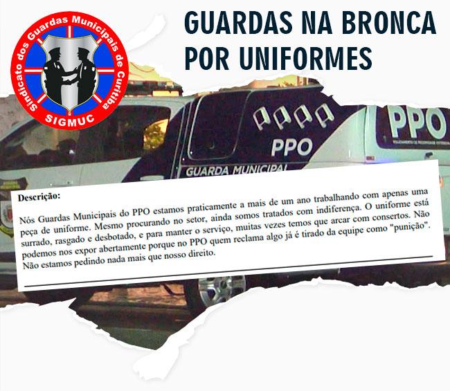 GUARDAS NA BRONCA POR UNIFORMES
