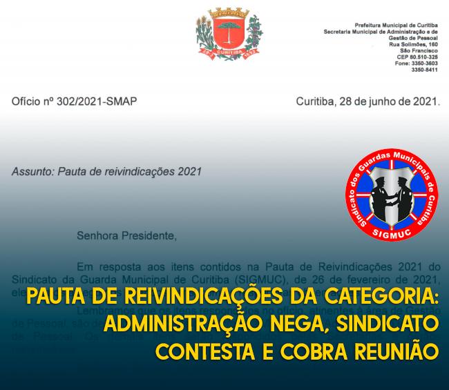 PAUTA DE REIVINDICAÇÕES DA CATEGORIA: ADMINISTRAÇÃO NEGA, SINDICATO CONTESTA E COBRA REUNIÃO