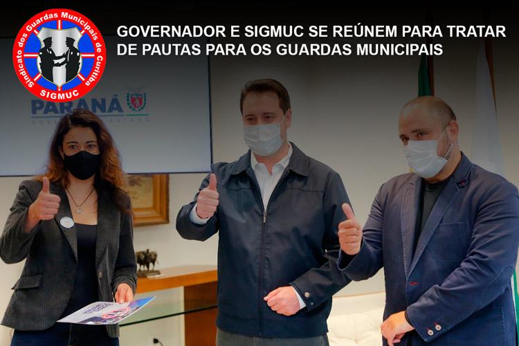 GOVERNADOR E SIGMUC SE REÚNEM PARA TRATAR DE PAUTAS PARA OS GUARDAS MUNICIPAIS