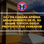 CCJ DA CÂMARA APROVA ARQUIVAMENTO DE PL DO EXAME TOXICOLÓGICO PROPOSTO POR VEREADOR